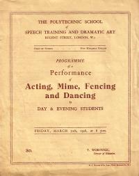 The Polytechnic School of Speech Training and Dramatic Art
